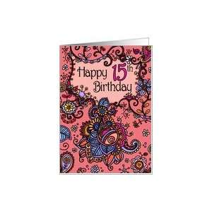 Happy Birthday   Mendhi   15 years old Card: Toys & Games