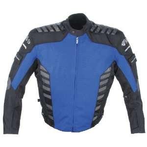 Airborne Mens Textile Motorcycle Jacket Blue/Black Large L 9051 2204