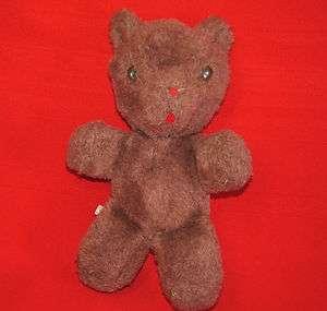 Vintage Eden BROWN WIND UP TEDDY BEAR Plush MUSICAL