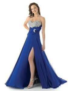 Sexy Blue Wedding Dress Evening Dress Prom/Ball Gown Custom Size 2 28