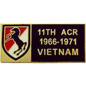 U.S. Army 11th Armored Cavalry Division Vietnam Pin 1 1/8