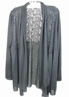 NEW Style & Co. Woman Black Long Sleeve Shirt/Jacket Lacy Size1X