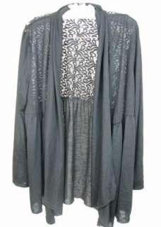 NEW Style & Co. Woman Black Long Sleeve Shirt/Jacket Lacy Size1X