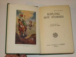 RUDYARD KIPLING BOY STORIES Rand McNally & Co c 1916 HC