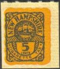 NEW HAMPSHIRE State Revenue Tobacco Tax Stamp SRS NH T173