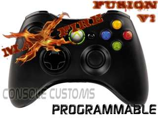 Xbox 360 Black MaxFire FUSION Rapid Fire Controller Jitter/DropShot