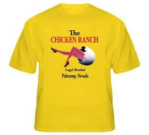 The Chicken Ranch Las Vegas Whorehouse Yellow T Shirt