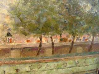 RIVER SEINE, PARIS   FRENCH IMPRESSIONIST OIL   CIRCA 1900