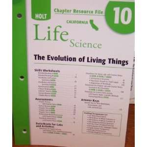 Chapter Resource File 10 The Evolution of Living Things
