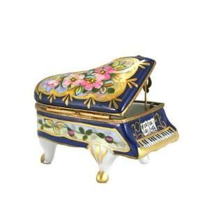 Floral Grand Piano with 24 Kt Gold French Limoges Box