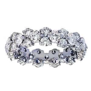 4.00 ct TW Ladys Round Cut Diamond Eternity Wedding Band