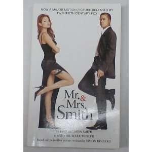 AND MRS SMITH PAPERBACK BOOK BRAD PITT ANGELINA JOLIE
