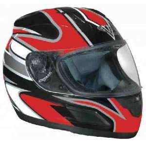 Red Graphic DOT Full Face Motorcycle Helmet Automotive