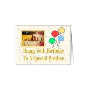 Brother 66th Happy Birthday Card Card