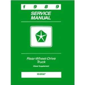 1989 DODGE RWD TRUCK Diesel Engine Service Manual Book