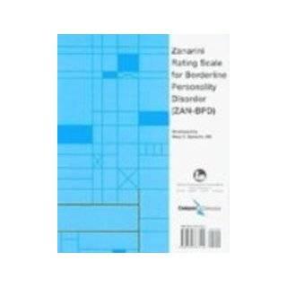 Personality Disorder (MSI BPD) (9780763763107) Mary C. Zanarini