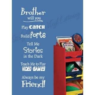 BROTHERS BEST BUDDIES Vinyl wall lettering stickers quotes