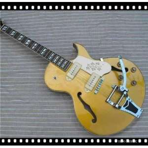 goldtop jazz electric guitar with big tremolo Musical Instruments
