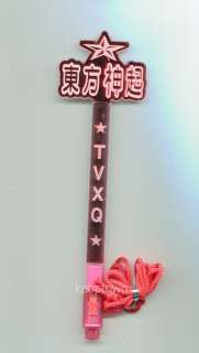 TVXQ Red Concert Straight + Character Light Stick Middle Size