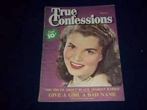 1948 FEB TRUE CONFESSIONS MAGAZINE PAT SLOWEY   I 7676