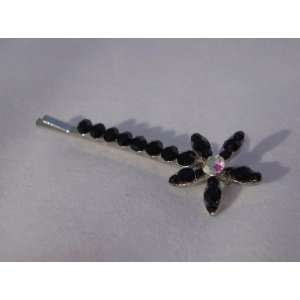 NEW Black Crystal Flower Hair Pin, Limited. Beauty
