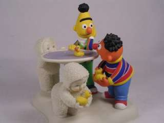 Dept 56 Snowbabies Rubber DuckyBert & Ernie Sesame Street NIB