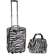 zebra print luggage