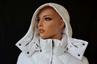 NWT BURBERRY GOOSE DOWN NOVA CHECK WHITE DIAMOND PUFFER PARKA COAT