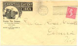 Prentiss Patent Vise Company 1899 New York Advertising cover with D23