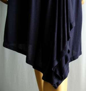 Theory Lansolyn Jersey Faux Wrap Tank Dress L $215