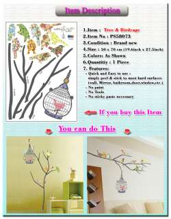 Wall Decal Sticker Mural Removable ART PS073 Bird Cage