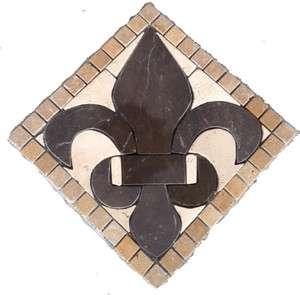 Floor Marble Medallion Fleur De Lis Tile Mosaic Us Made
