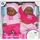 Berenguer African American Black Twin Baby Dolls Lots to Cuddle Babies
