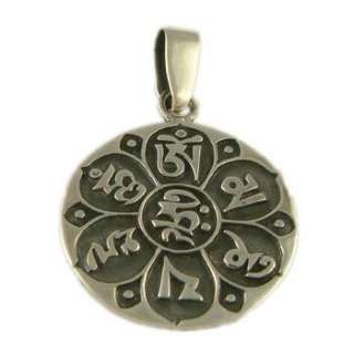 Om Mani Padme Hum Pendant buddhist mantra of compassion Mens Jewelry