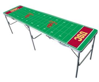 NCAA USC Trojans 8ft Ping Pong Tailgate Table