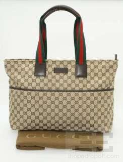 Gucci Brown Monogram Canvas Diaper Tote Bag