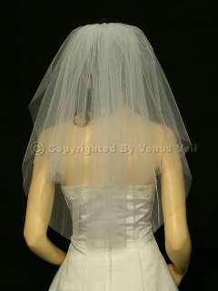 Ivory Shoulder Short Length 20/25 Cut Edge Bridal Wedding Veil