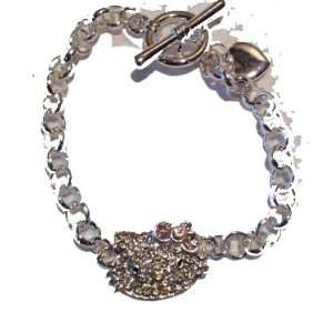 Plated Crystal & Rhinestone Toggle Bracelet By Jersey Bling Jewelry