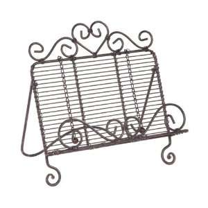 Wrought Iron Country Heart COOKBOOK HOLDER stand prop