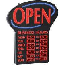 Newon LED Lighted Open Sign w/ Business Hours