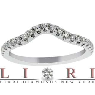 CARAT CUSTOM CURVE MATCHING DIAMOND WEDDING BAND RING 18K WHITE GOLD