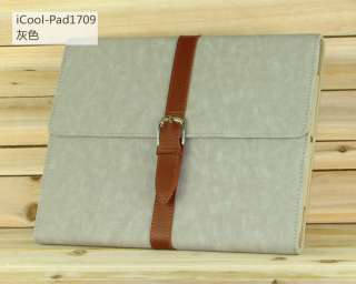 New Luxury Stand Button Smart PU Leather Case Cover For iPad 2/The New