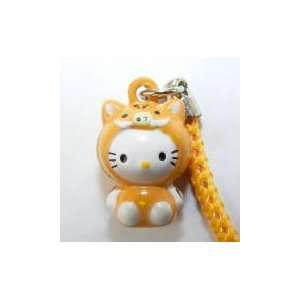 Hello Kitty in Piggy Costume Bell Straps, Charms or