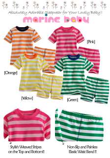 Baby Toddler Kid Girl Boys Short Sleeve Sleepwear Set Marine Baby