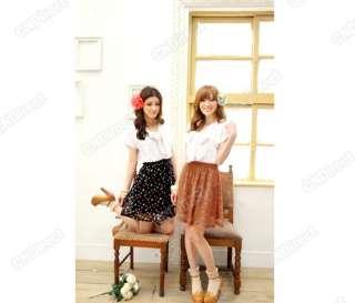 New Fashion Womens Summer Short sleeve V Neck Bow Chiffon Mini Dress