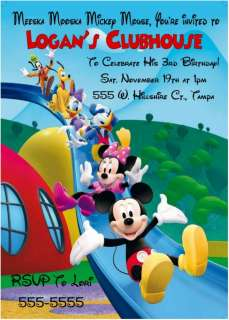 MICKEY MOUSE CLUBHOUSE BIRTHDAY INVITATIONS   SLIDE DESIGN