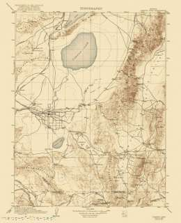 USGS TOPO MAP CARSON SINK QUAD NEVADA (NV) 1910 MOTP
