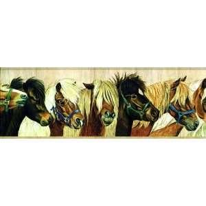 Beige Horse Wallpaper Border