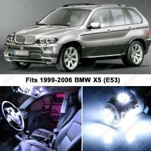 BMW X5 WHITE LED Lights Interior Package Kit M E70 (16
