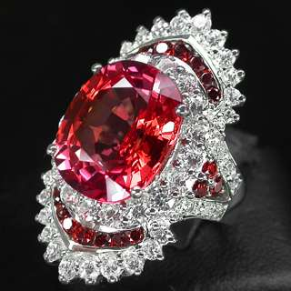 ORANGE POP PADPARADSCHA SAPPHIRE 925 STERLING SILVER RING
